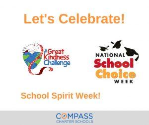 School Spirit Week: Celebrate Kindness & School Choice