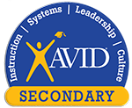 Logo for AVID at Compass Charter Schools - an independent study TK-12 grade program with online and homeschool programs