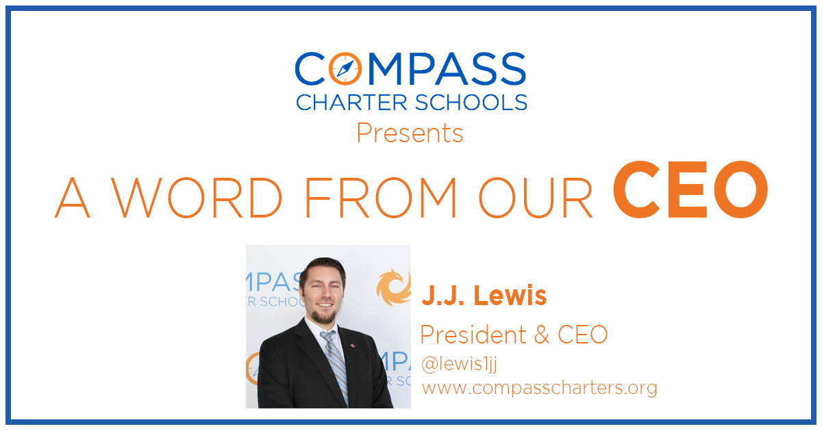 Blog - A Word From Our CEO at Compass Charter Schools