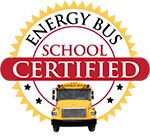 Energy Bus Schools logo. Compass Charter Schools, a TK-12 grade online and homeschool program, is a certified school.